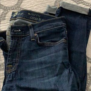 7 for all mankind jeans  worn once!